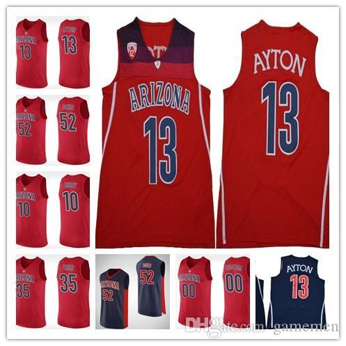Mens 13 Deandre Ayton 10 Mike Bibby NCAA Arizona Wildcats Jersey ... d6cab1a4387c