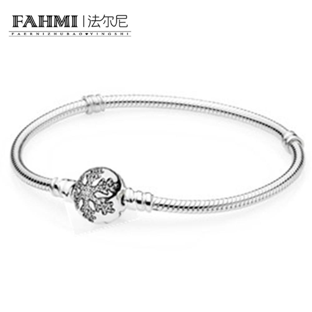 ec57adbc86 2019 FAHMI 100%925 Silver Zircon Snowflake Basic Bracelet Women Fashion  Accessories Bracelets DIY Beaded Jewelry From Weichengz