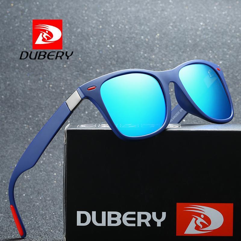 Compre DUBERY Polaroized Óculos De Sol Para Homens Esporte Condução Óculos  De Sol Dos Homens Quadrados Personalidade Cor Espelho De Luxo Da Marca  Designer ... 6ff7e57a34