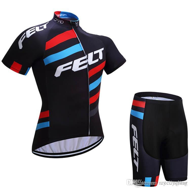 New Cycling Jersey FELT 2018 Men S Maillot Ciclismo Short Sleeve And Bike  Bib  Shorts Cycling Kits Summer Outdoor MTB Bicycle Clothes H Cycling Jersey  ... 8377f2abf