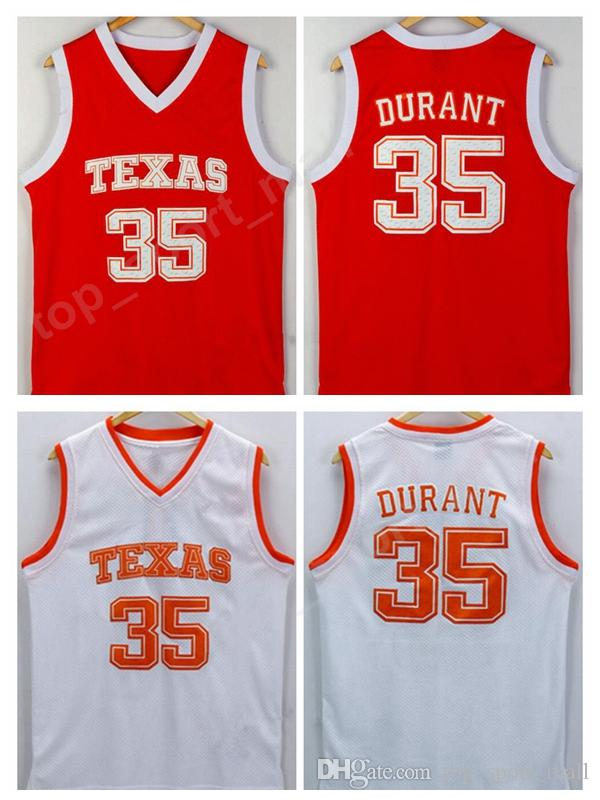 the best attitude 6d553 da237 Men Basketball 35 Kevin Durant College Jersey Cheap Texas Longhorns Jerseys  Men Orange Team Color White University Breathable High Quality