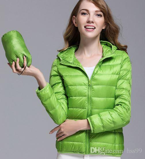 796cc7dabfb3 2019 Women Winter Coat 2017 New Ultra Light Down Jacket Slim Women Winter  Puffer Jacket Portable Windproof Down Coat From Hss99, $52.77 | DHgate.Com