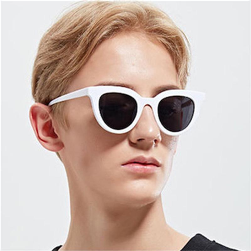 3260458bc2a 2018 Fashion Sunglasses Men Women Sun Glasses Black White Woman Cat Eye  Sunglasses Retro Oculos De Sol Feminino UV400 Fastrack Sunglasses Smith  Sunglasses ...