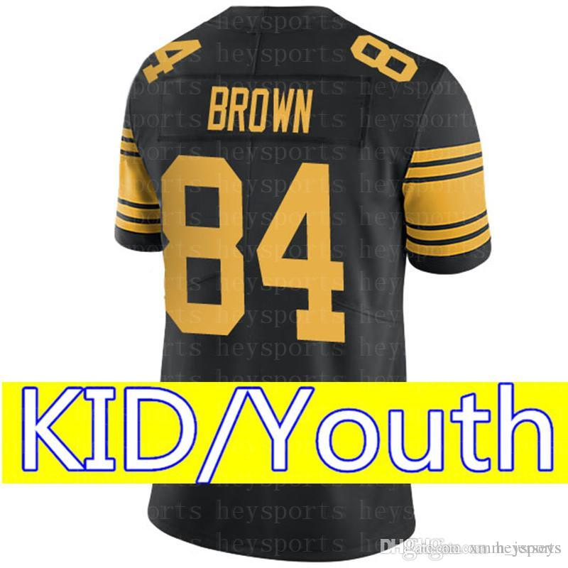 51cf2f1a9a8 KID Pittsburgh Steelers 84 Antonio Brown Jersey Youth 26 Saquon ...