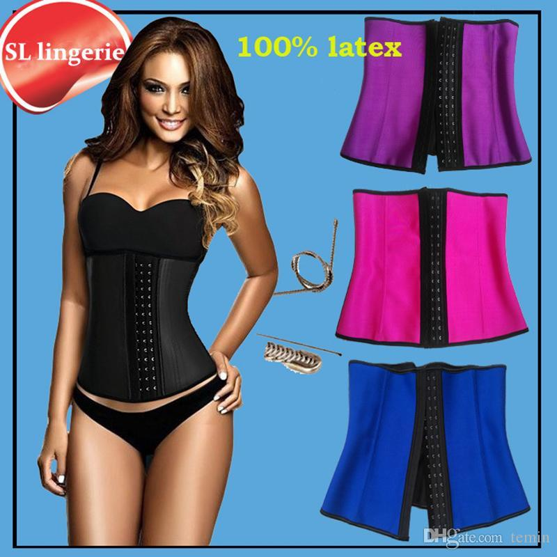 7efbe7015e 2019 Wholesale Slimming Sheath Women Gaine Amincissante Corset Slimming  Latex Waist Trainers Body Shapers Girdles Women Rubber Belt Belly Fajas From  Temin