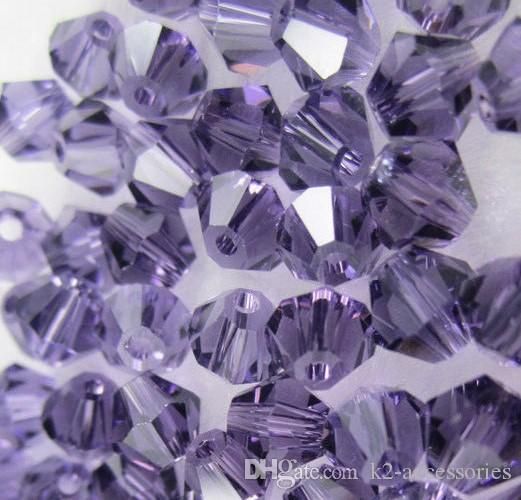 Violet 4mm 6mm #5301 Bicone glass crystal beads DIY Jewelry making