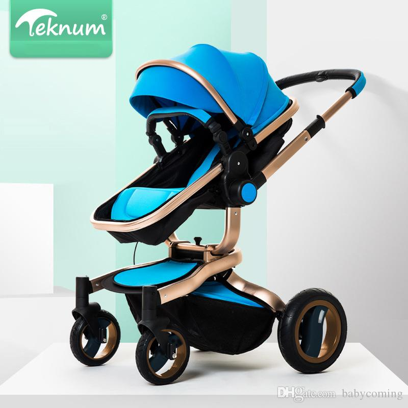 Fashion Highview Folding Baby Stroller/Baby Pram, Portable Children Pushchair, Bi-directional Baby Trolley, 4 Wheels Baby Carriage