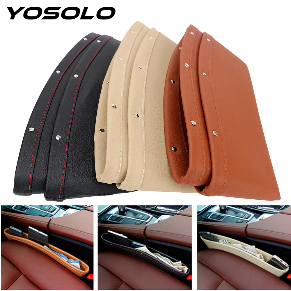yosolo car seat crevice storage box bag case leak proof seat gapyosolo car seat crevice storage box bag case leak proof seat gap pocket catcher organizer pu leather stowing tidying organizer for car trunk organizers for