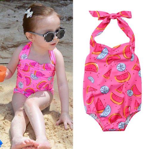 fd5e7a78a Compre Rosa Swimsuit Crianças Meninas Do Bebê Melancia One Piece Swimwear  Biquíni Maiô Verão Verde Bonito Beachwear Verão Boutique Roupas De  Tyfactory