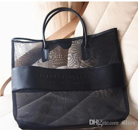 High Quality Makeup Bags Large Transparent Cosmetic Bag Fashion Shoulder Bag Beach Bag women handbag items