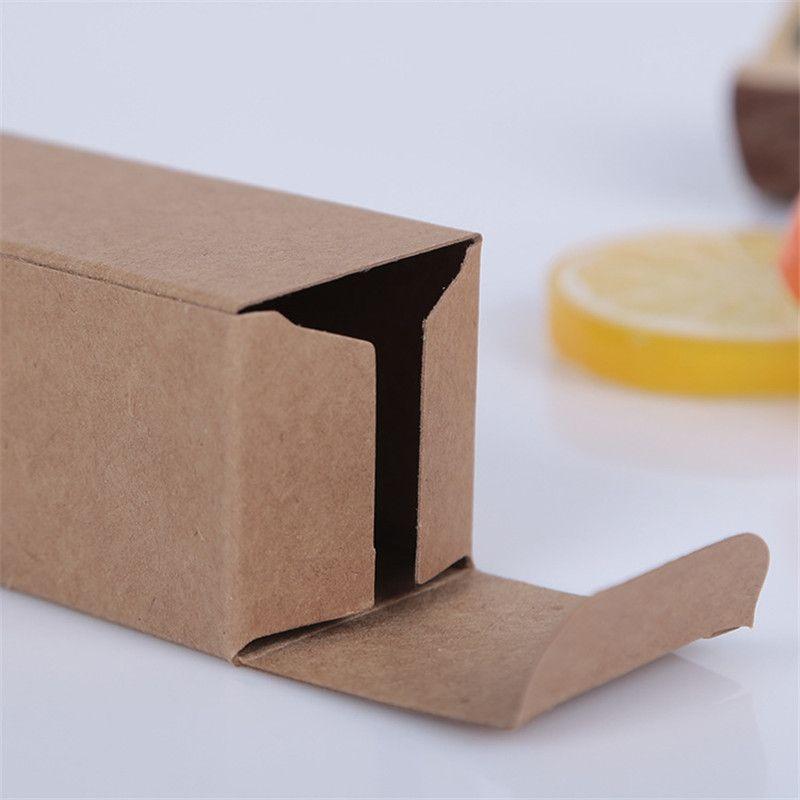 10 size Black white Kraft Paper cardboard box Lipstick Cosmetic Perfume Bottle Kraft Paper Box Essential Oil Packaging Box LZ1416