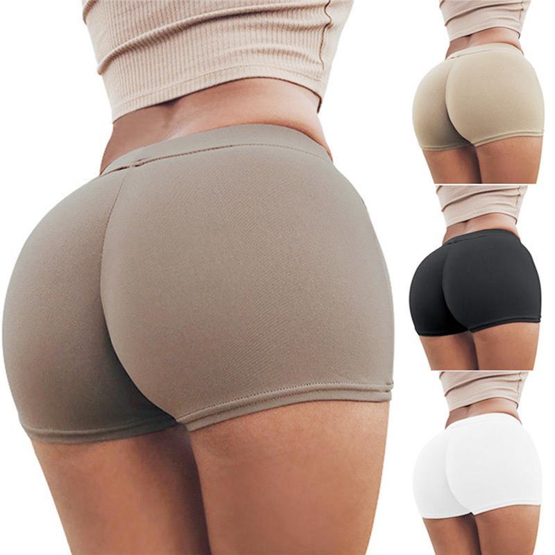 Women Lady Shorts Workout Exercise Shorts Skinny Elastic Fitness Shorts  Female KH825895 UK 2019 From Stephanie04 1ae9176136