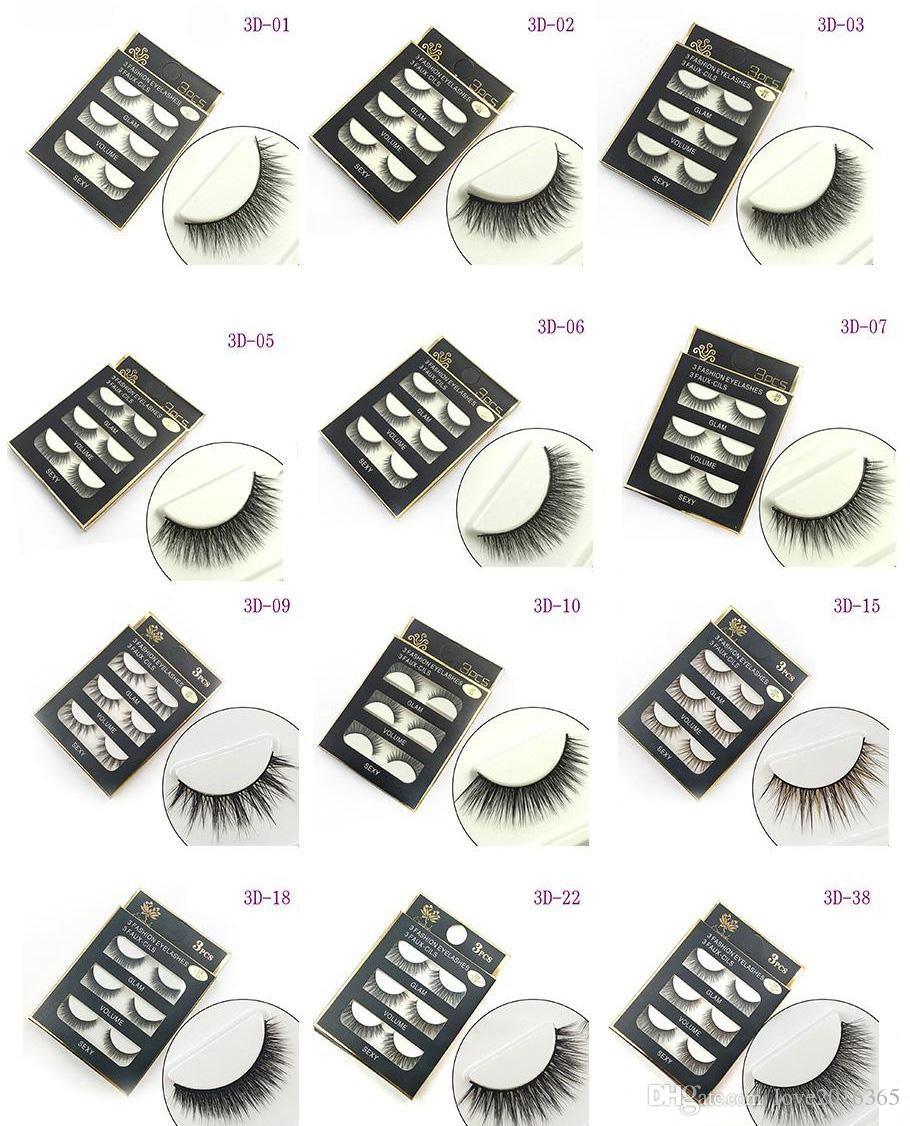 3D false eyelashes Mink Hair eyelashes Handmade Beauty Thick Long Soft lashes Fake Eye Lashes Eyelash Sexy High Quality