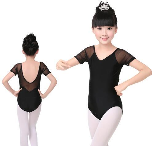 928eca10e9d0 New Spandex Black Ballet Dance Leotard Girls Kids Children Mesh ...