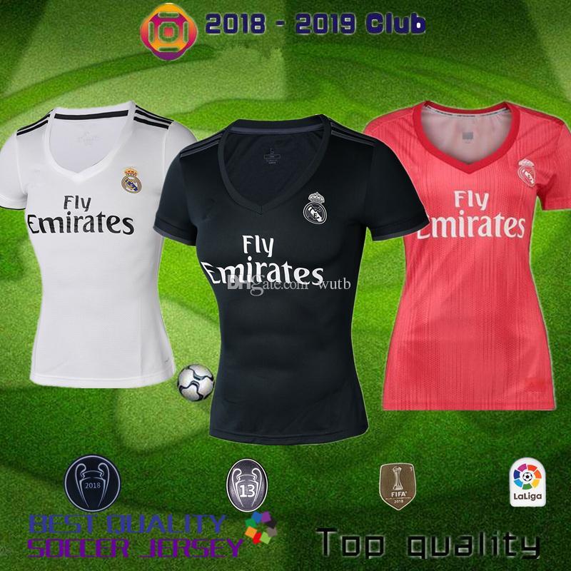 2018 2019 Real Madrid Mujer VINICIUS JR BALE Camiseta De Fútbol 18 19  RONALDO BENZEMA SERGIO RAMOS ISCO NAVAS ASENSIO Casa Visitante 3º De Fútbol  Por Wutb 535b792a2f823