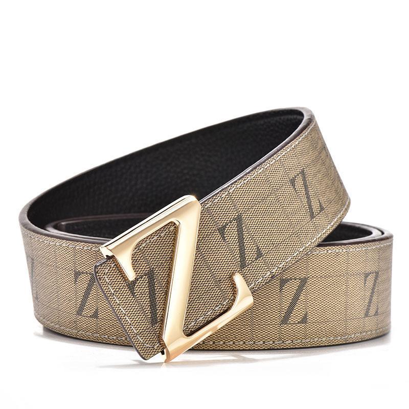 a basso costo di modo attraente autentica di fabbrica 2018 Cintura popolare Z Cinture con fibbia Cinture di design Cinturino alla  moda Cintura in vera pelle Cintura di lusso per cinture da uomo e donna ...