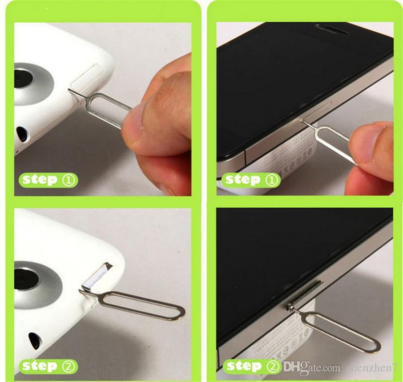 For phone 7 Metal SIM Card Pin Eject Pin Tool for phone 6 plus 4.7 6S 4 4S 5 5S STY026