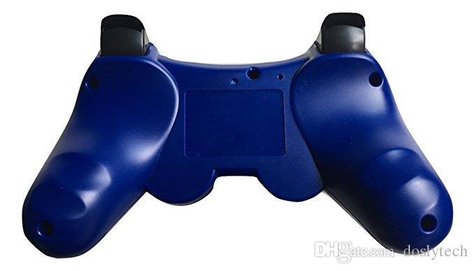 PS3 kablosuz bluetooth denetleyicisi için dosly oyun denetleyicisi siyah ve mavi renk