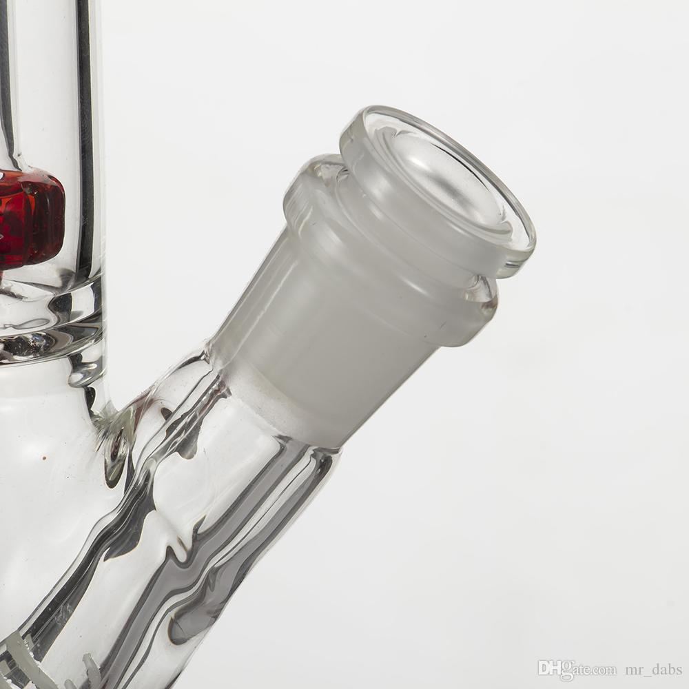 Glas-Downstem-Diffusor mit 14 mm Innengewinde und 18 mm Außengewinde Drop-Down-Smoke 6 Cuts Dab Rig für Glas-Bongs-Wasserpfeifen