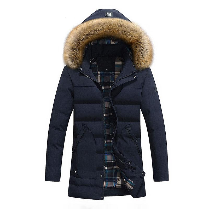 feae50ad232 2019 2018 New Men Winter Jacket Cotton Padded Coat Thicken Warm Parka Fur  Collar Hooded Hat Detachable Mid Long Quilted Jackets Male From Macloth