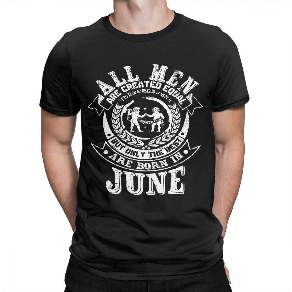June Gemini Zodiac Birthday MenS Funny T Shirt For Men Tees O Neck Short Sleeves Stylish 100 Cotton Shirts Plus Size Weird Shop Online