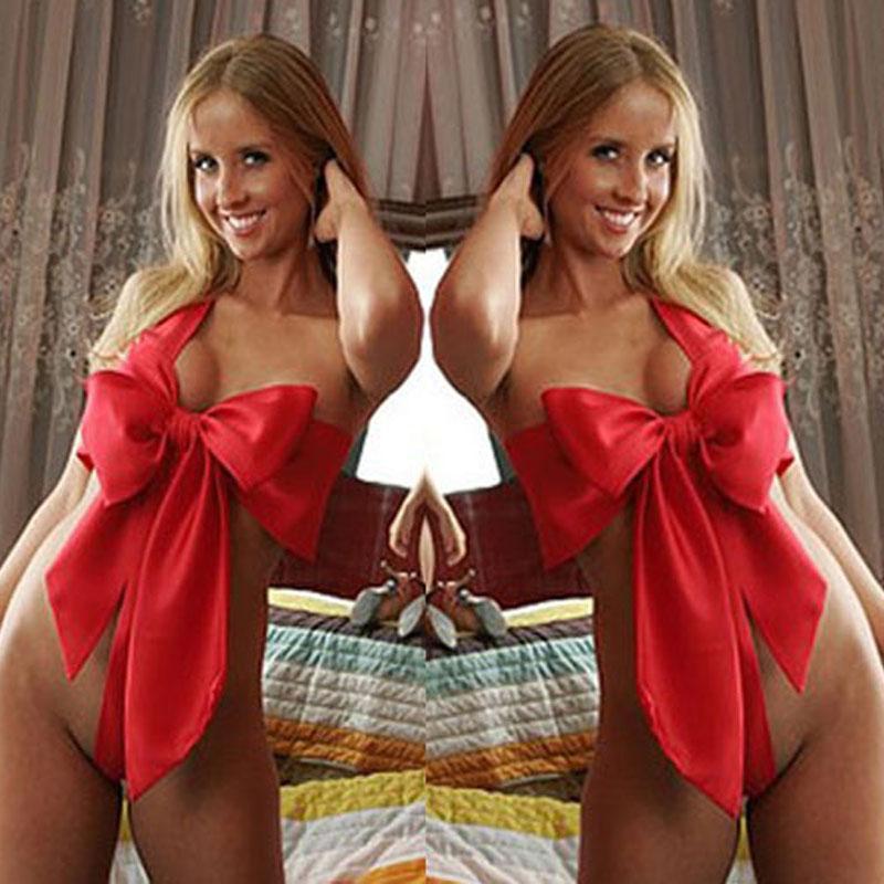 032dd3866c1 2019 Women Ladies Naughty Knot Bow Sexy Lingerie Underwear Sleepwear Xmas  HOT From Hoto