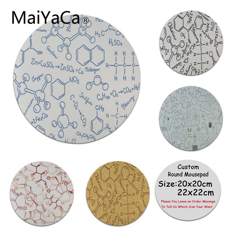 MaiYaCa New Printed SMU Chemistry Undergraduate Silicone Pad to Mouse Game  High Speed New Round Mousepad