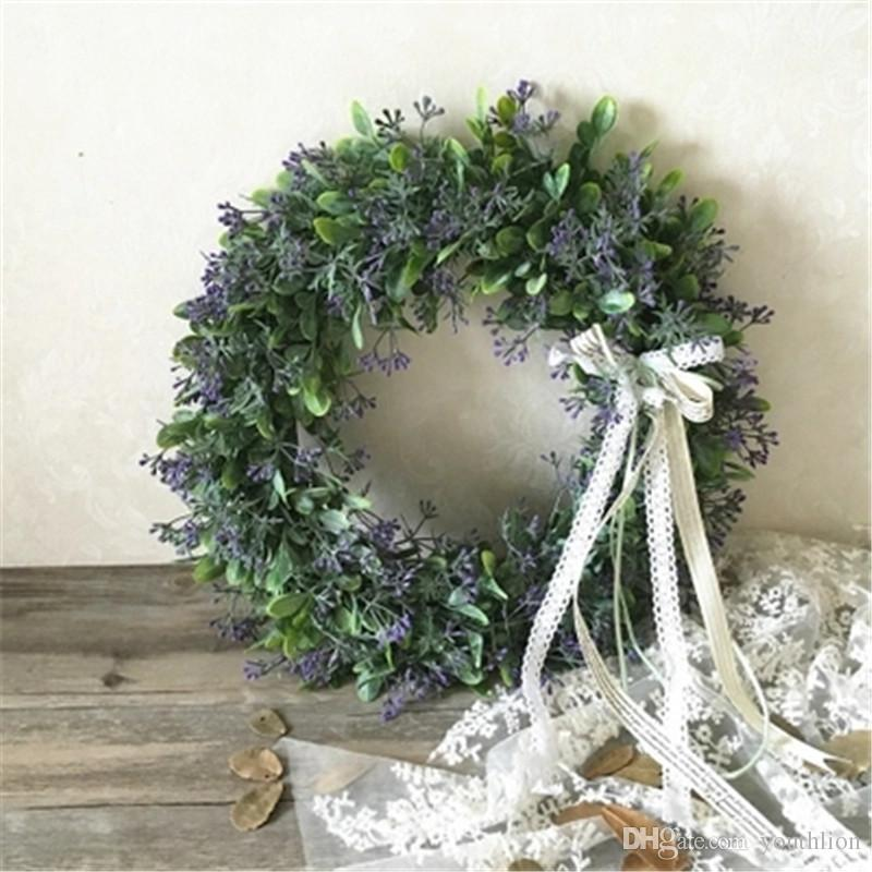 Door Hanging Lifelike Artificial Wreath Flowers Wall Window Decoration Wedding Party Christmas Decoration 30 cm Wall Hanging Flowers