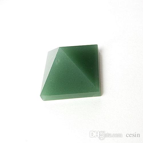 Aventurine Quartz Crystal Pyramid For Healing Clear Positive Psychic Energy Reiki Tumbled Stone Home Office Gift Loose Quadripod New