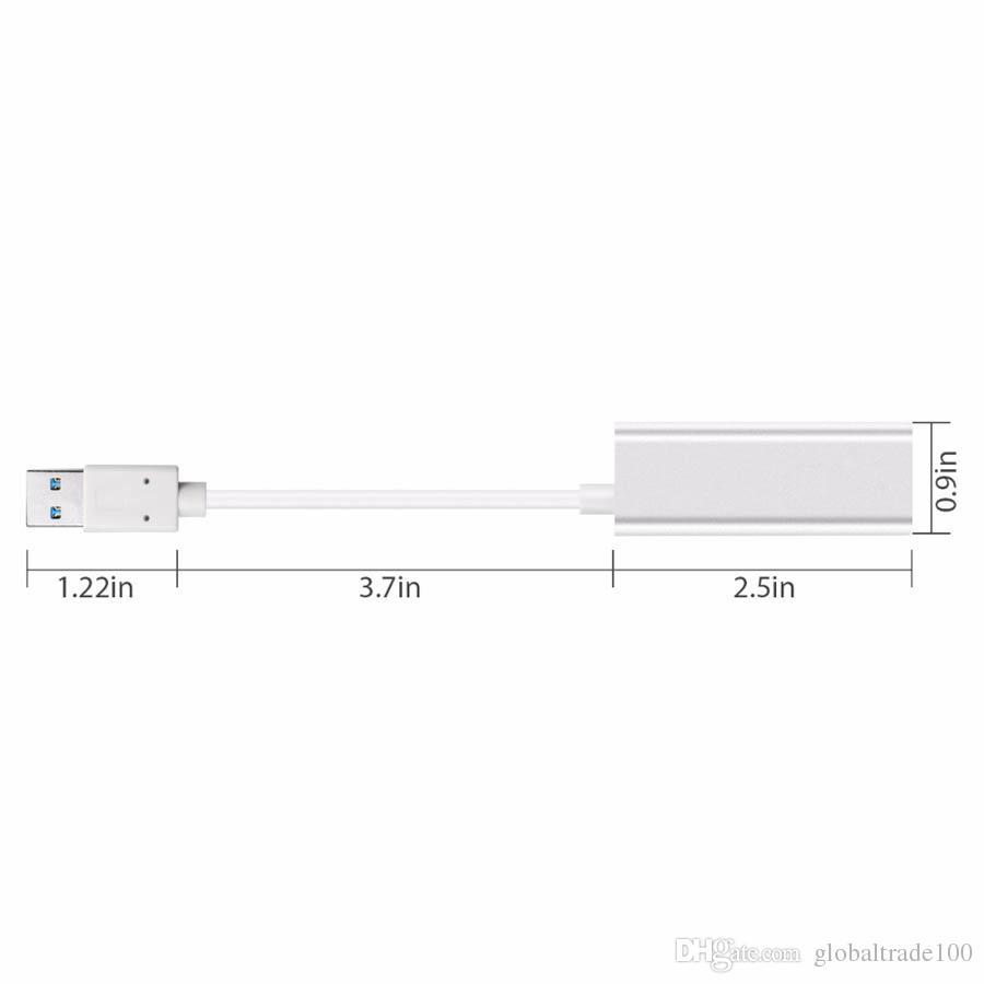 Aluminum alloy USB 3.0 Gigabit Ethernet External USB3.0 to RJ45 Adapter Lan Network Card for Windows Computer Macbook