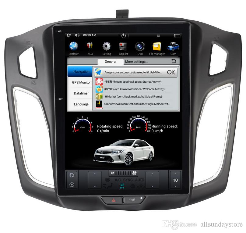 """10.4"""" Tesla Style Android 7.1 Car Multimedia Player GPS Navigation for Ford Focus 2012-2015 with Radio BT No Car DVD"""
