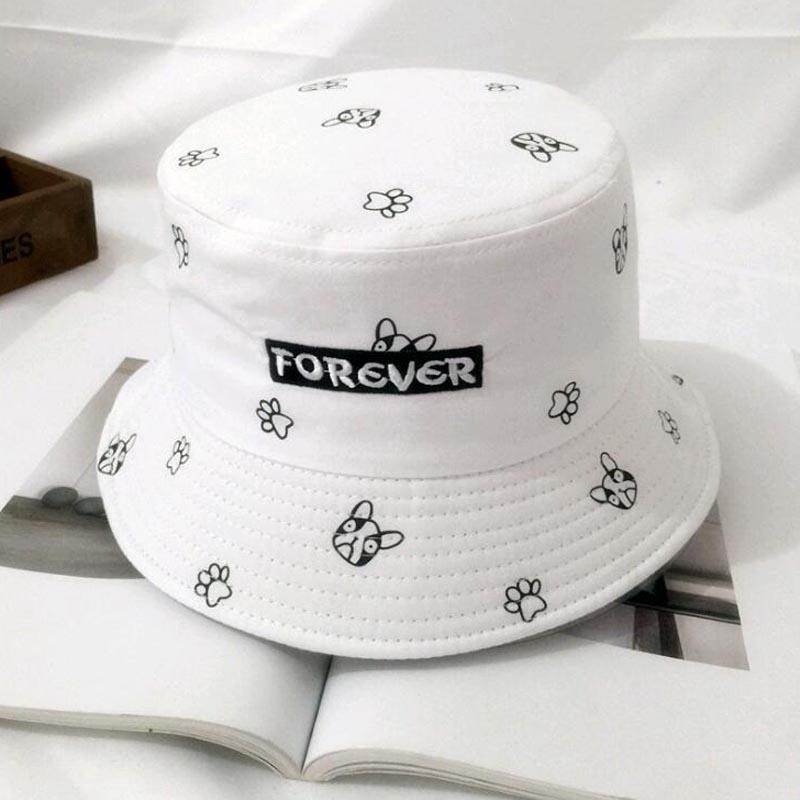 Compre Nuevo Lindo Perro Pink Bucket Sombreros Para Mujeres Imprimir Boonie  Sombreros Uv Protección Bob Caps Pesca Sunscreen Hat Niñas Cubo Para Verano  A ... 2a7c6d4c848