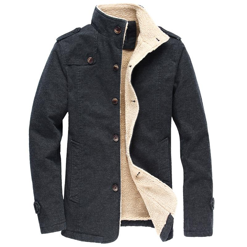 385ef746707 Winter Warm Cotton Bomber Jacket Men Wool Outwear Coat Casual Stand Collar  Mens Jacket Fleece Parka Coat Plus Size 6XL Jackets For Mens Designer  Jacket From ...