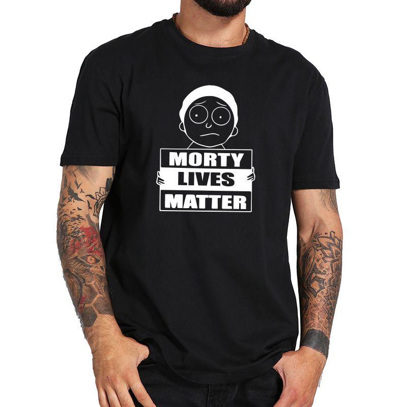 23212c5c7 Morty Lives Matter Men's T Shirts Cute Boy Funny Graphic Tshirt 100% Cotton  Short Sleeve Top Tees Newest Rick Shirt Eu Size