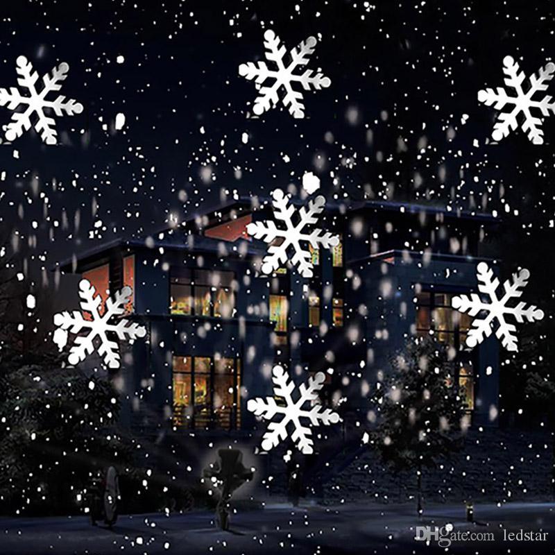 Christmas Snowflake Laser Light Snowfall Projector IP65 Moving Snow ...