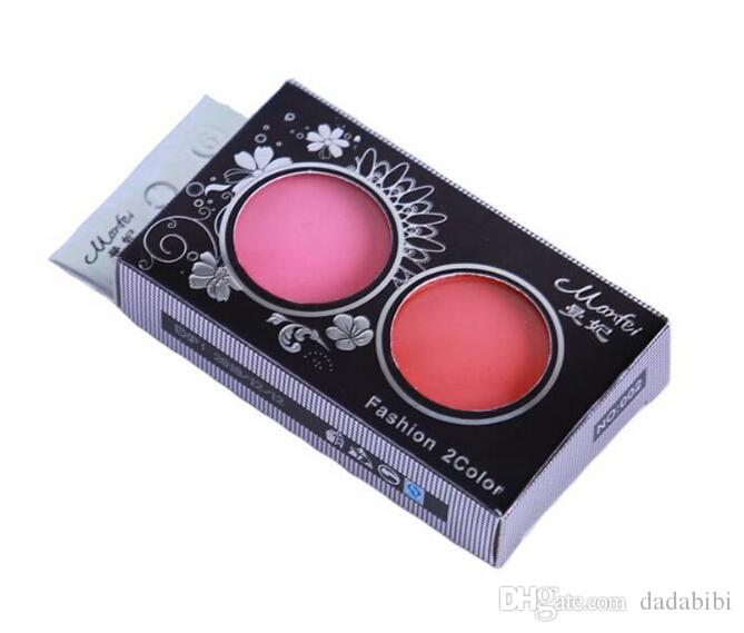NEW ARRIVAL Professional Blush Palette Double Layer Micro Flash Makeup Blush Brush Cheek with Mirror B1