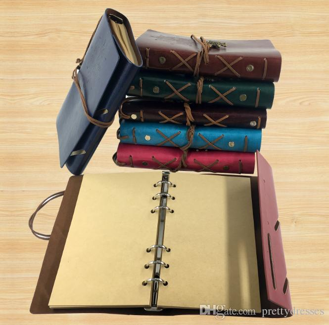 Cheap A6 Diary Notebook Pirate Anchor Decor Traveler's Note Books Notepad Planner PU Leather Cover Students Notebooks Gift Wedding Favors