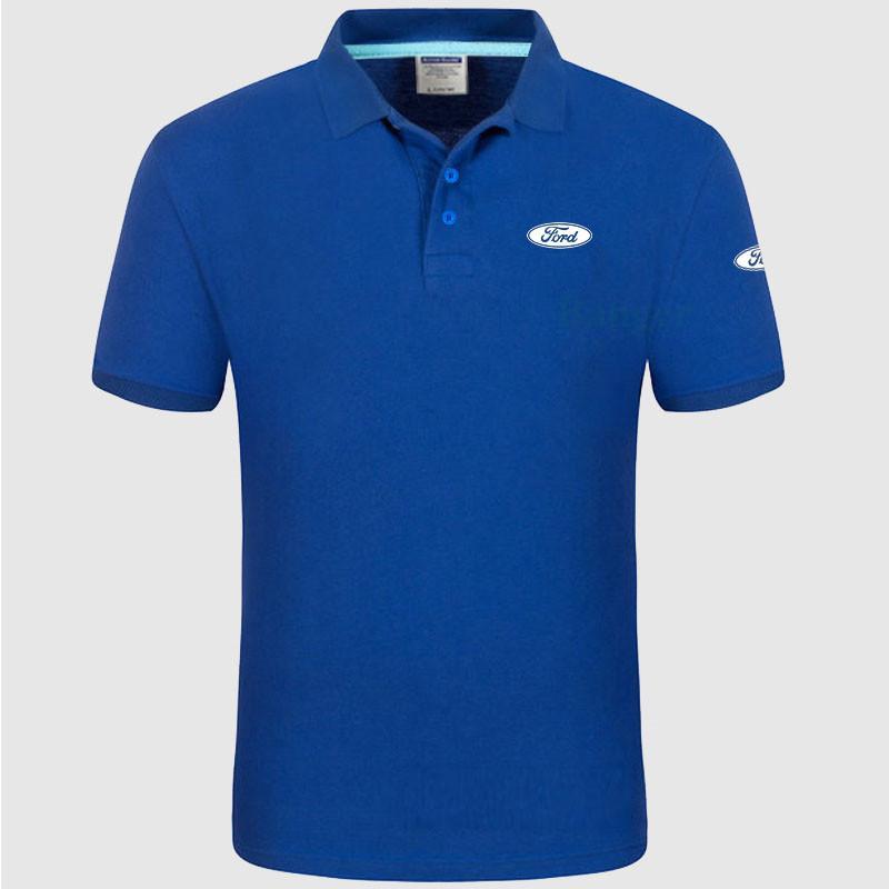 d84131dce Compre Brand New Mulheres E Homens Camisa Ford Logotipo Algodão Camisa De  Manga Curta De Luweiha