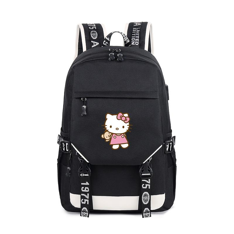 Hello Kitty Anime New Printing Backpack School Travel Shoulder Bag Backpack  Oxford School Bags Popular Bag Mens Backpacks Swiss Army Backpack From  Waveshock ... d7defdddec59f