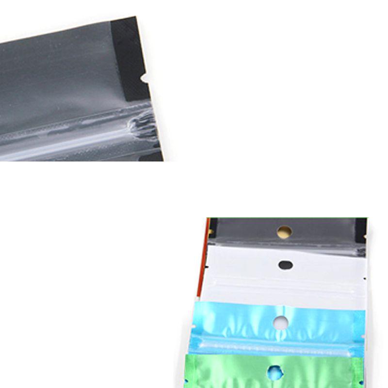 Renkli Açılıp Kapanabilir Zip Mylar Çanta Alüminyum Folyo Çanta Kokusu Geçirmez Torbalar Takı çantası bir tarafı temizle