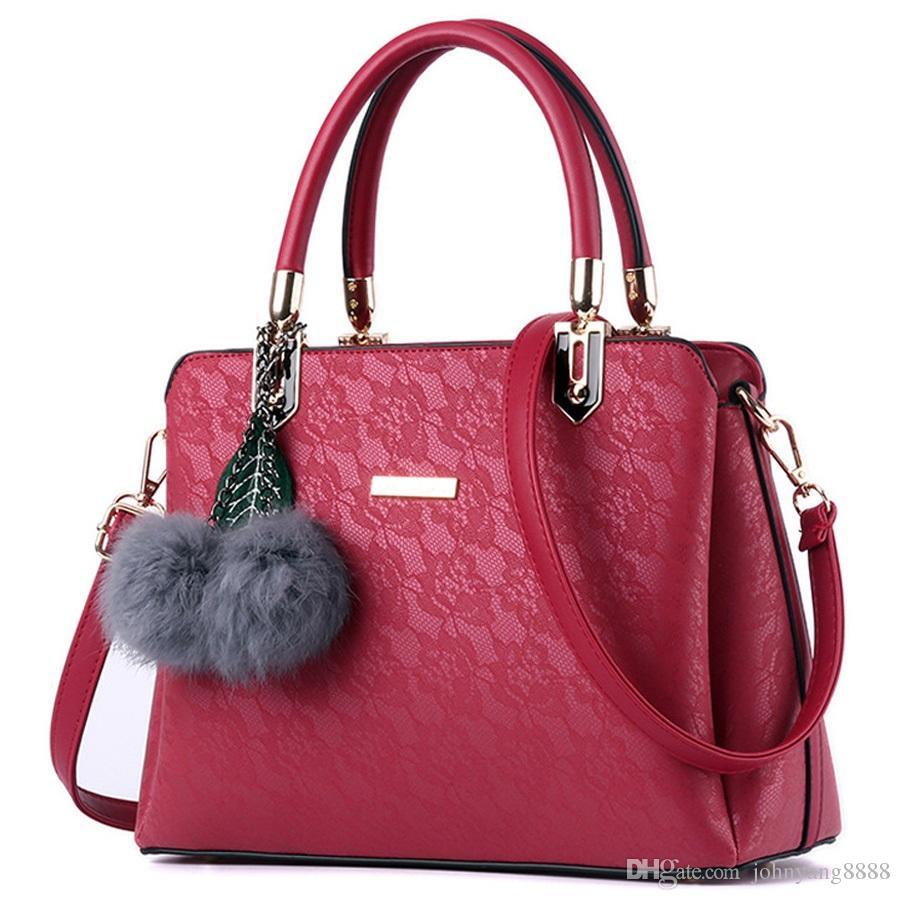 bc37c2c4966 Women Fur Handbags 2018 High Quality Printing Women Bags Women PU Leather  Shoulder Messenger Bags Sweet Totes Bag Bolsa Wholesale Bags Discount  Designer ...