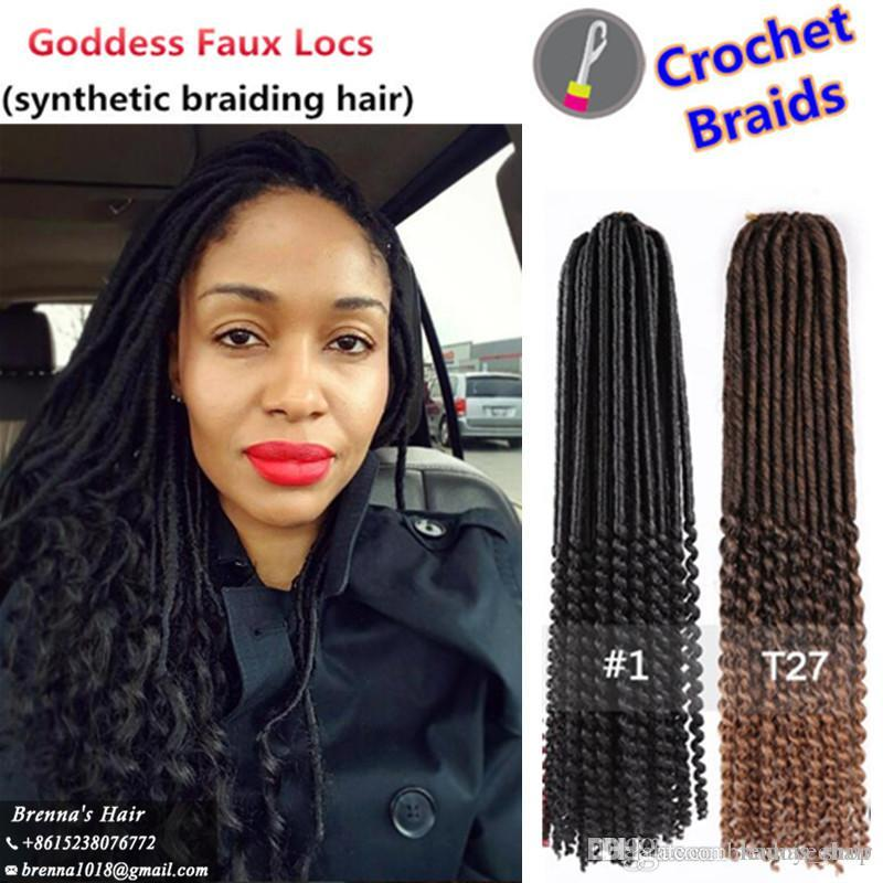 Best 20 18curly Faux Beautiful Goddess Faux Locs Tutorial Loc