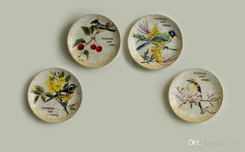 Our products are creative small ornaments this product is ceramic painted decorative plate.It can hang on the wall or put it on the table. & 2018 European Creative Ceramic Decorative Plates Hanging Wall ...