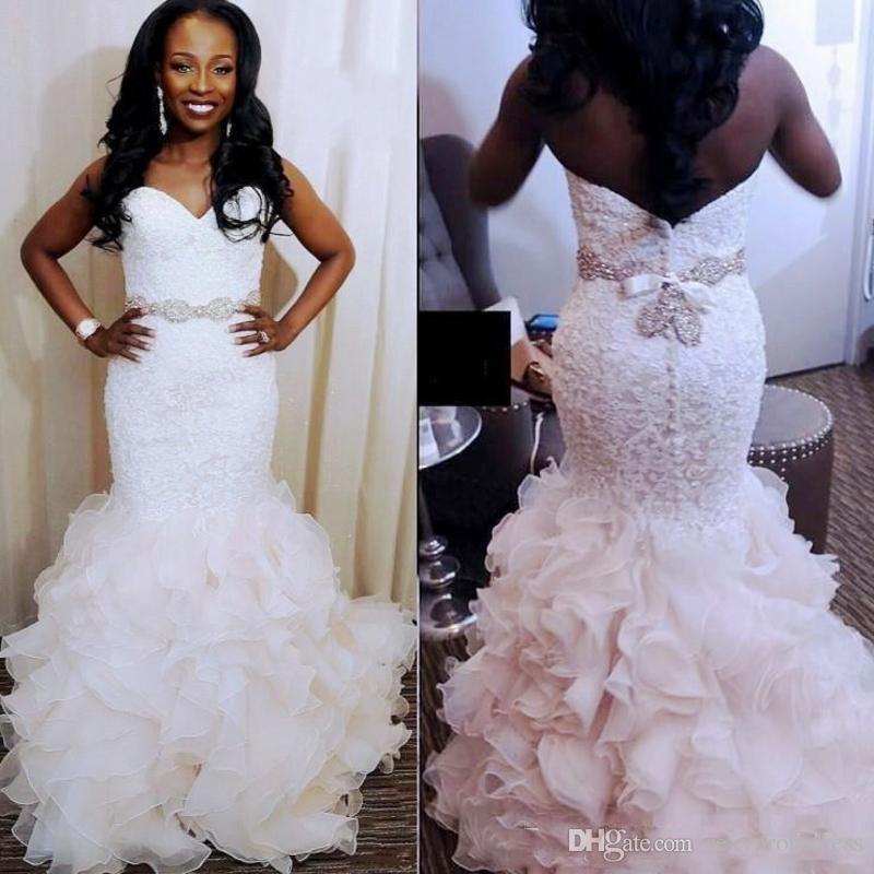 Gorgeous Mermaid Wedding Dresses South African 2018 2019