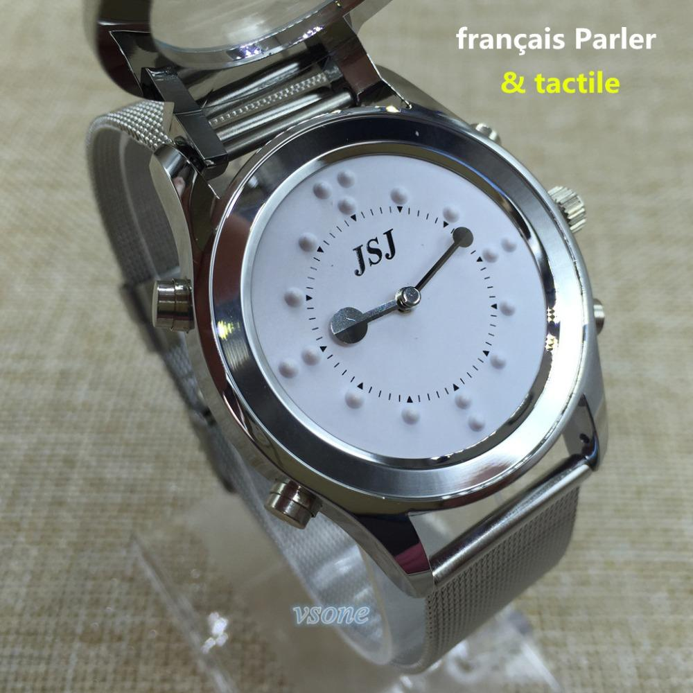 dial watch for item or blind people braille grey tactile woman watches the elderly