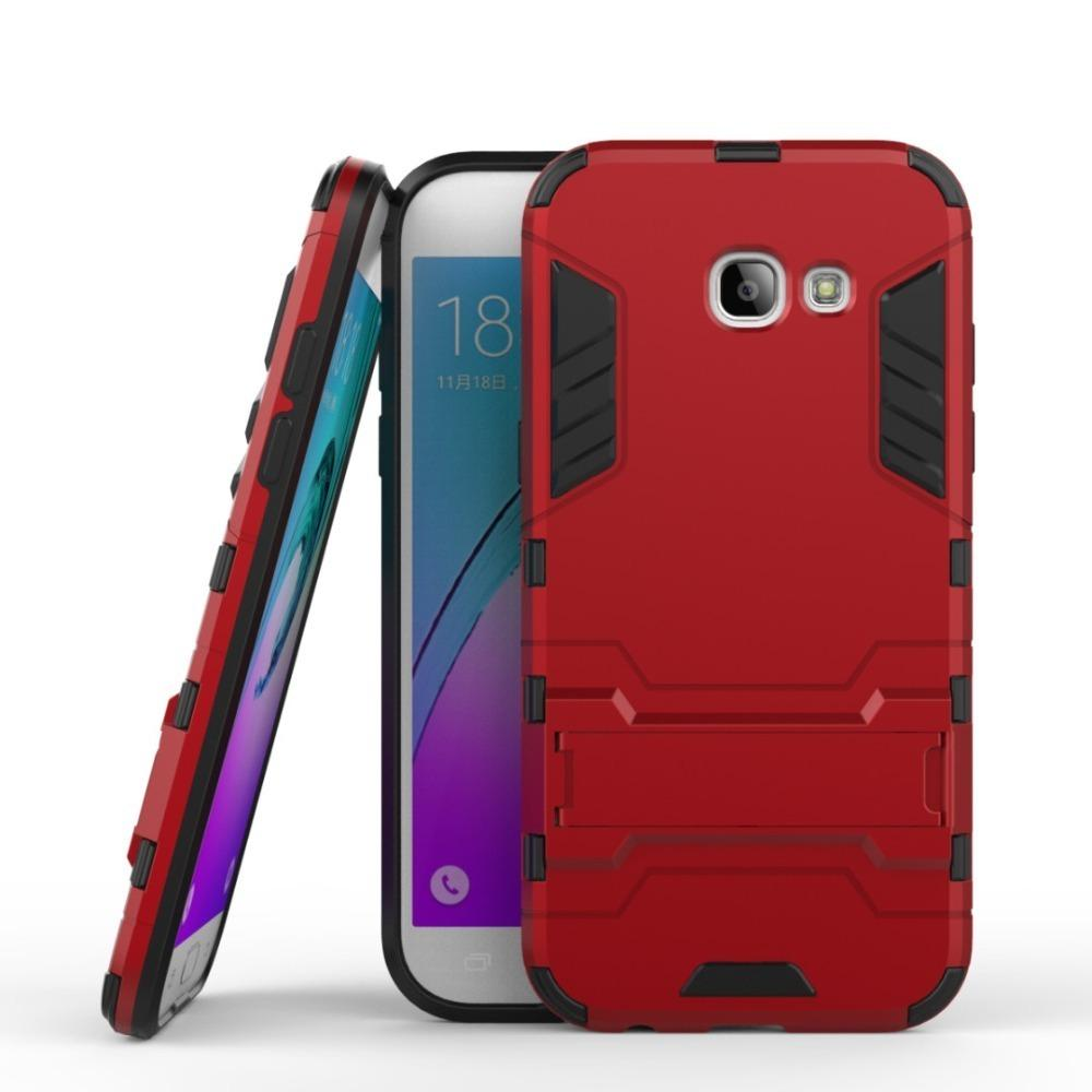 timeless design 9a625 9cd0f For Samsung Galaxy A5 2017 Case US version Armor Case Silicon Rubber Hard  Back Phone Cover For Samsung A5 2017 a520 a520F 5.2