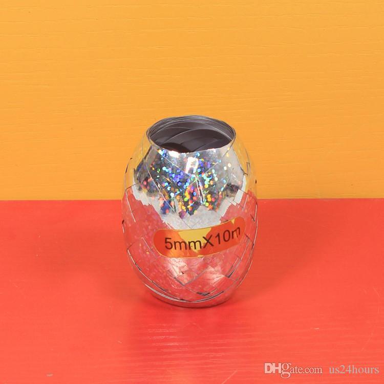 Letax Foil Shining Balloon Ribbon Party Decorazioni di nozze Regali Decorazione festa di compleanno Giocattoli regalo Nastro da imballaggio 5mm * 10 m Balloon Rope