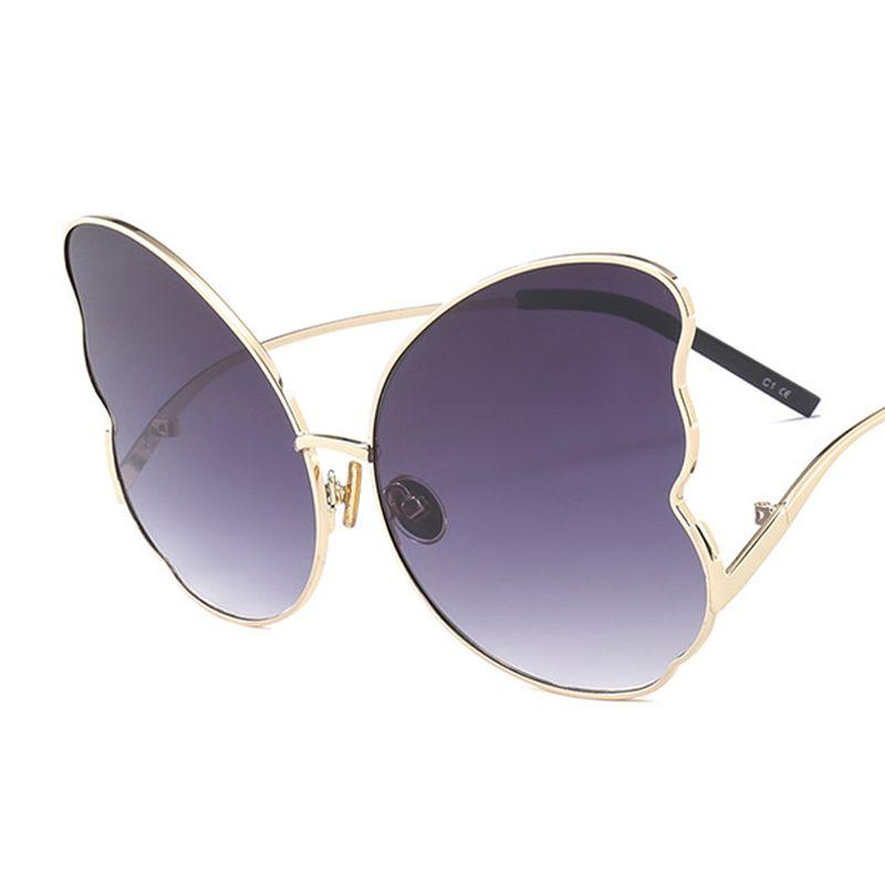 919f5670dc5fd Compre Big Borboleta Quadro Óculos De Sol Mulheres 2018 Designer Quente Olho  De Gato Vermelho Marrom Gradiente Espelho Óculos De Sol Oculos Ss985 De  Top7, ...