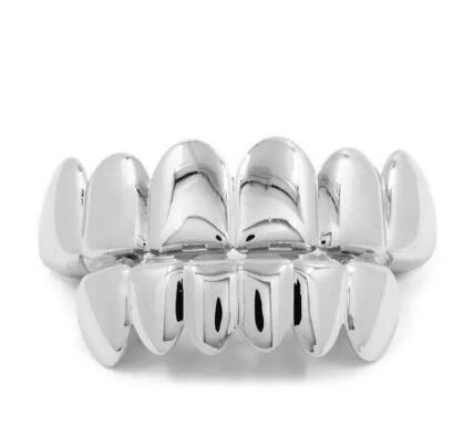 Gold Color Grillz Teeth Grillz Fashion Electroplating Teeth Grillz Teeth Mouth Grills Body Jewelry For Women &Men Cocotina D02872