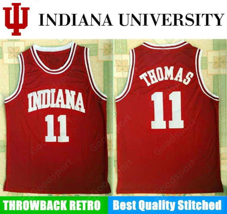 finest selection f419a 2251f INDIANA university NCAA Stitched 11 Isaiah Thomas Stitched embroidery  Swingman jerseys Jersey SHIRTS cheap sport basketball retro us